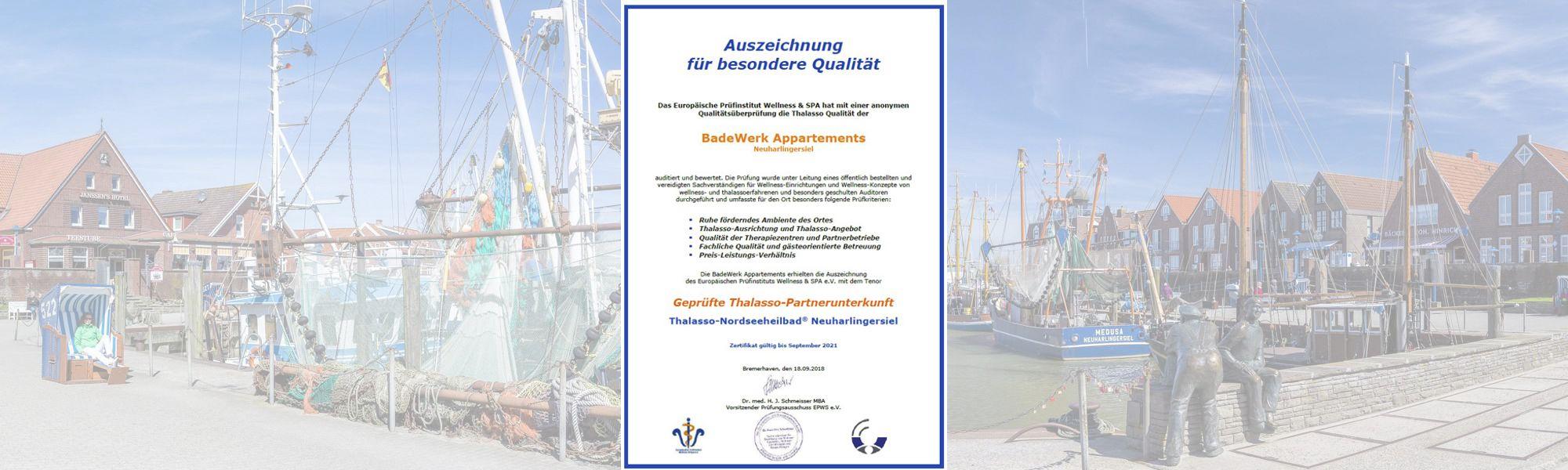 Geprüfte Thalasso-Partnerbetriebe in Neuharlingersiel