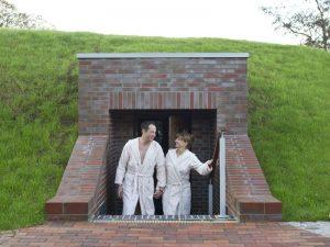 Deich-Sauna Eingang