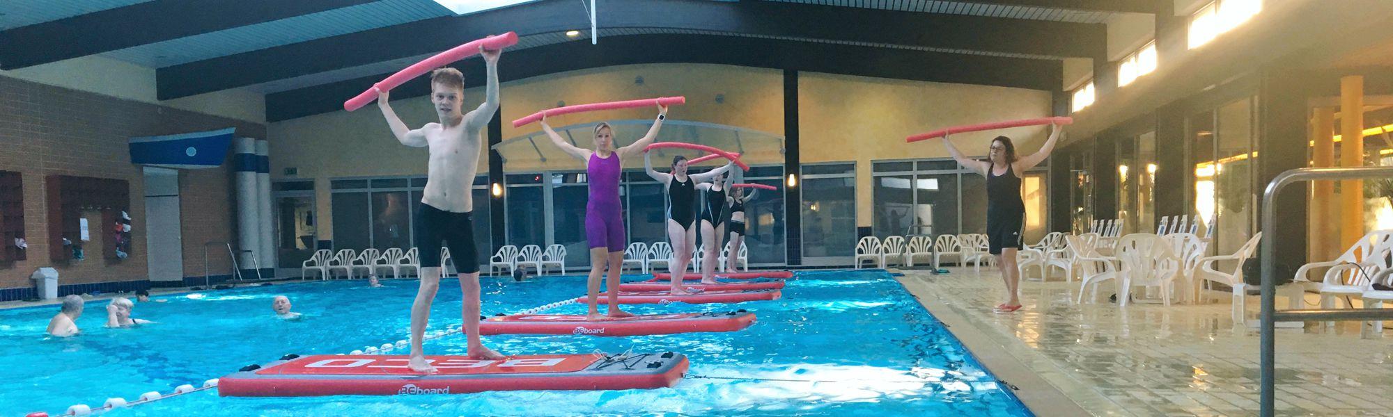 Flut-Fitness mit dem BEboard im BadeWerk