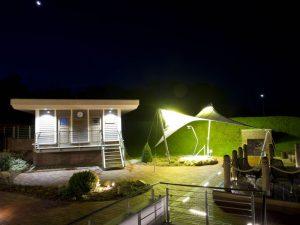 Mitternachts-Sauna - Außenbereich Sauna-Landschaft