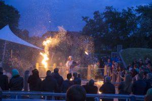 Sommernacht im BadeWerk-Garten