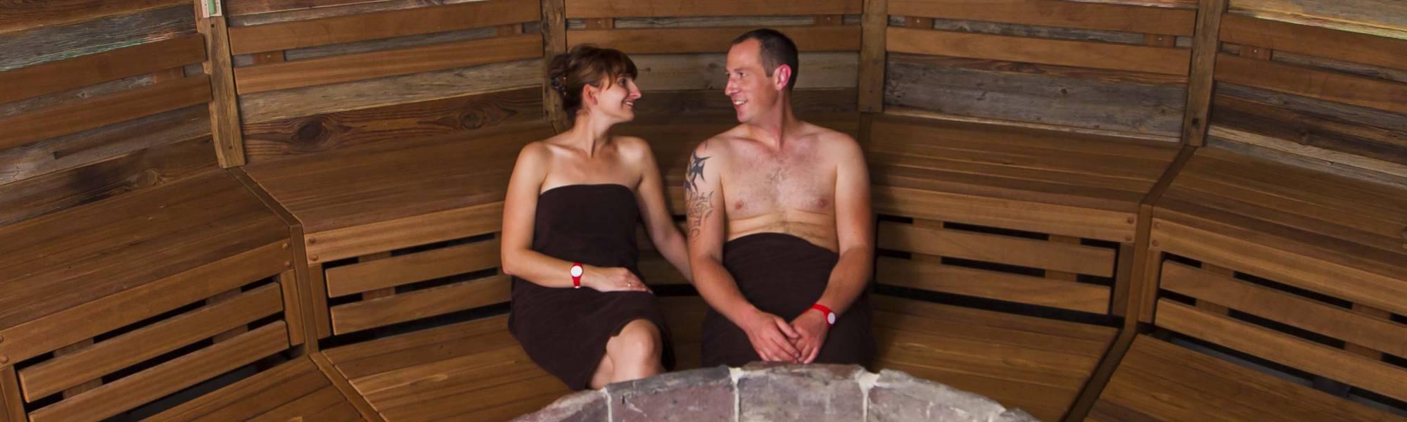 Deich-Sauna in der Sauna-Landschaft des BadeWerk Neuharlingersiel